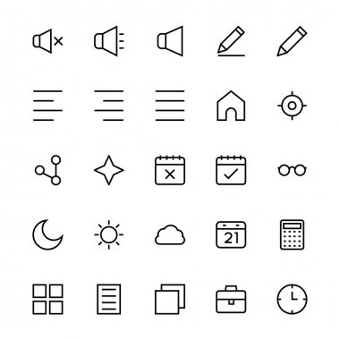 User Interface Colored Line Vector Icons 8