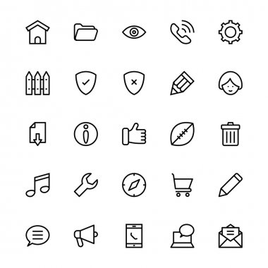 User Interface Colored Line Vector Icons 2