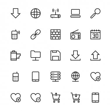 User Interface Colored Line Vector Icons 14