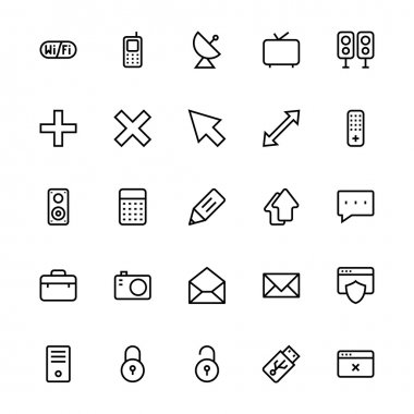 User Interface Colored Line Vector Icons 18
