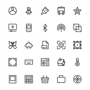 User Interface Colored Line Vector Icons 34