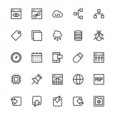 User Interface Colored Line Vector Icons 32