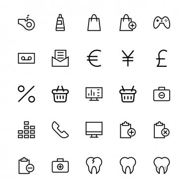 User Interface Colored Line Vector Icons 52