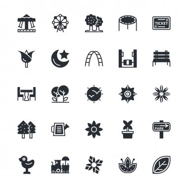 Nature, Park Vector Icons 1