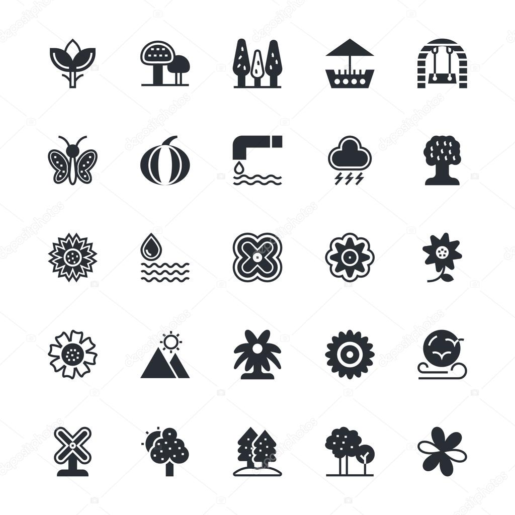 Nature, Park Vector Icons 3
