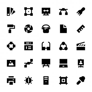 Here is the collection of Design, Printing and Modeling Vector Icons set. Express your creativity and kick start your graphic design projects with these vectors. stock vector