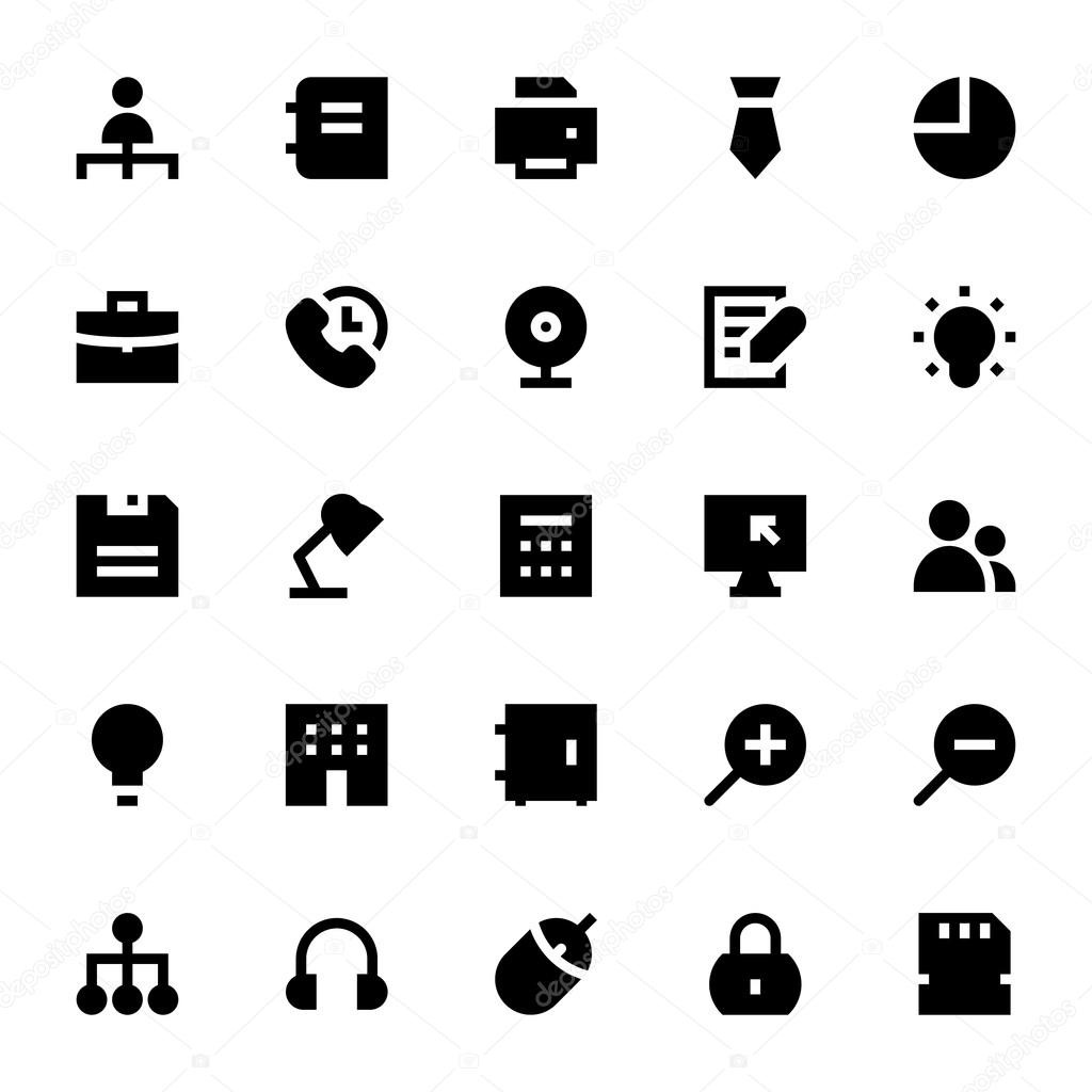 Business and Office Vector Icons 2