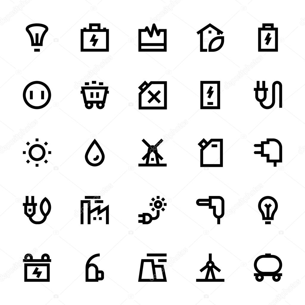 Energy and power vector icons 1 stock vector educester 112528800 a set of energy and power vector icons that you can use on your website infographic blog social network and many more graphics vector by educester biocorpaavc Gallery