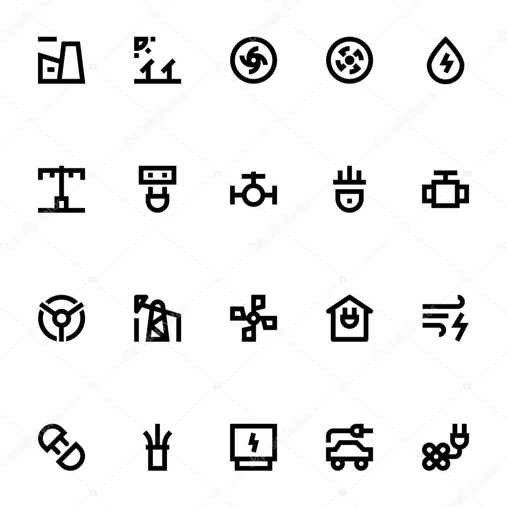 Energy and power vector icons 3 stock vector educester 112528852 a set of energy and power vector icons that you can use on your website infographic blog social network and many more graphics vector by educester biocorpaavc Gallery