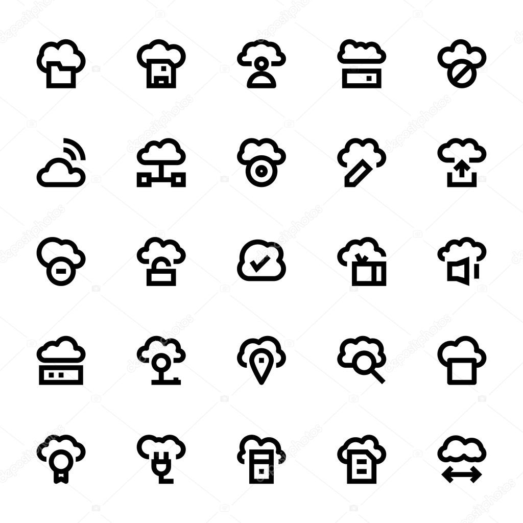 Cloud Data Technology Vector Icons 2