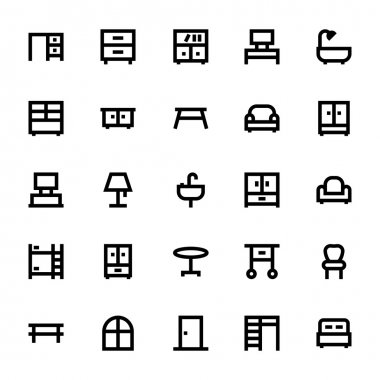 Furniture Vector Icons 1