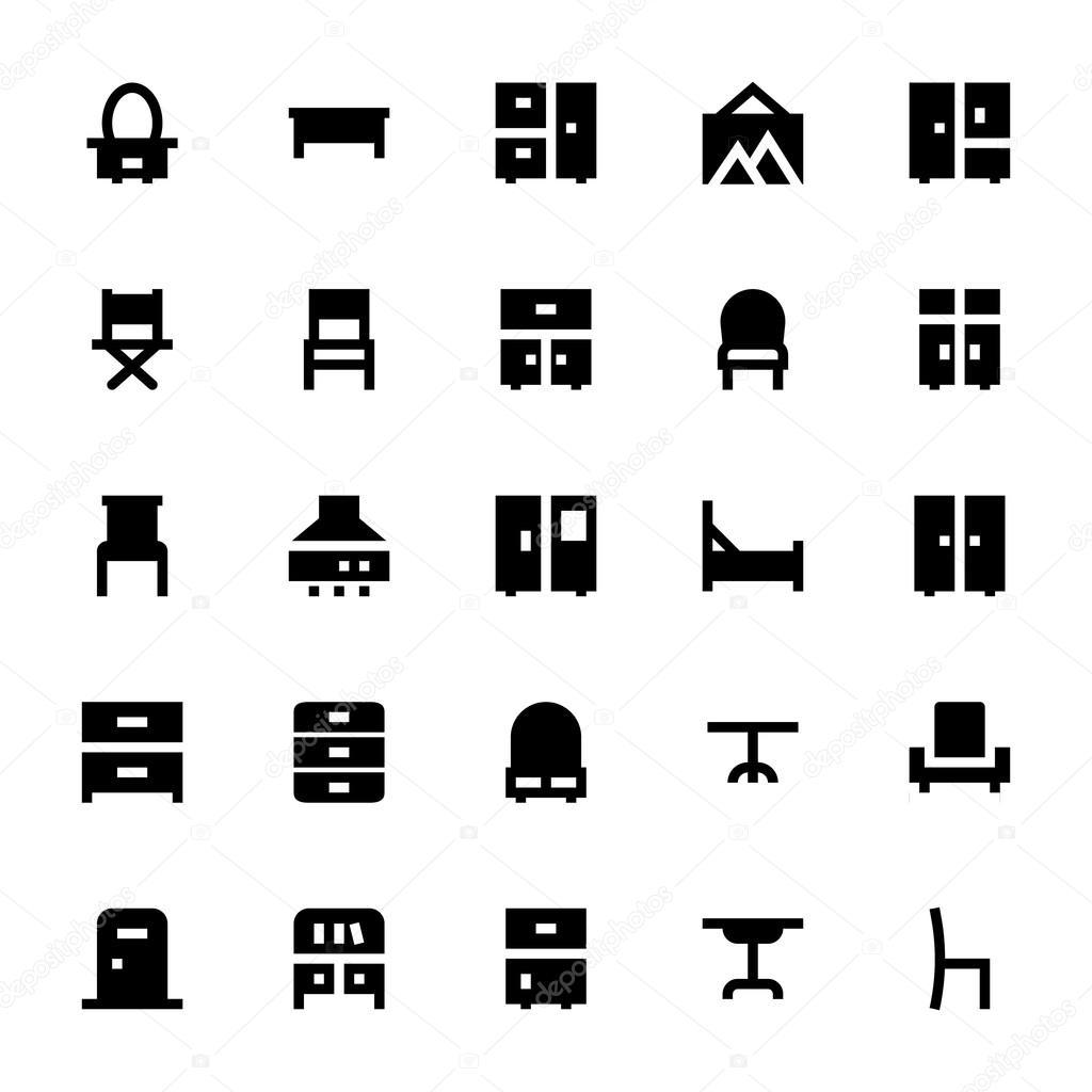 Möbel-Vektor-Icons 2 — Stockvektor © creativestall #112542410