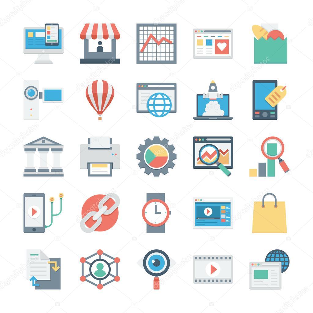 Digital Marketing Vector Icons 5 — Stock Vector ...