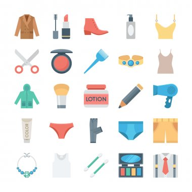 Fashion and Clothes Vector Icons 2