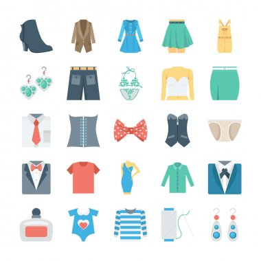 Fashion and Clothes Vector Icons 7