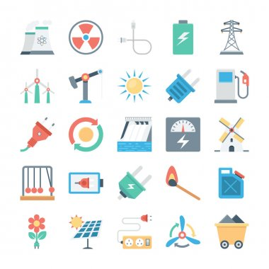Energy and Power Vector Icons 2