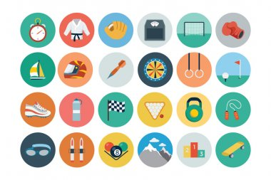 A set of sports vector flat icons! stock vector
