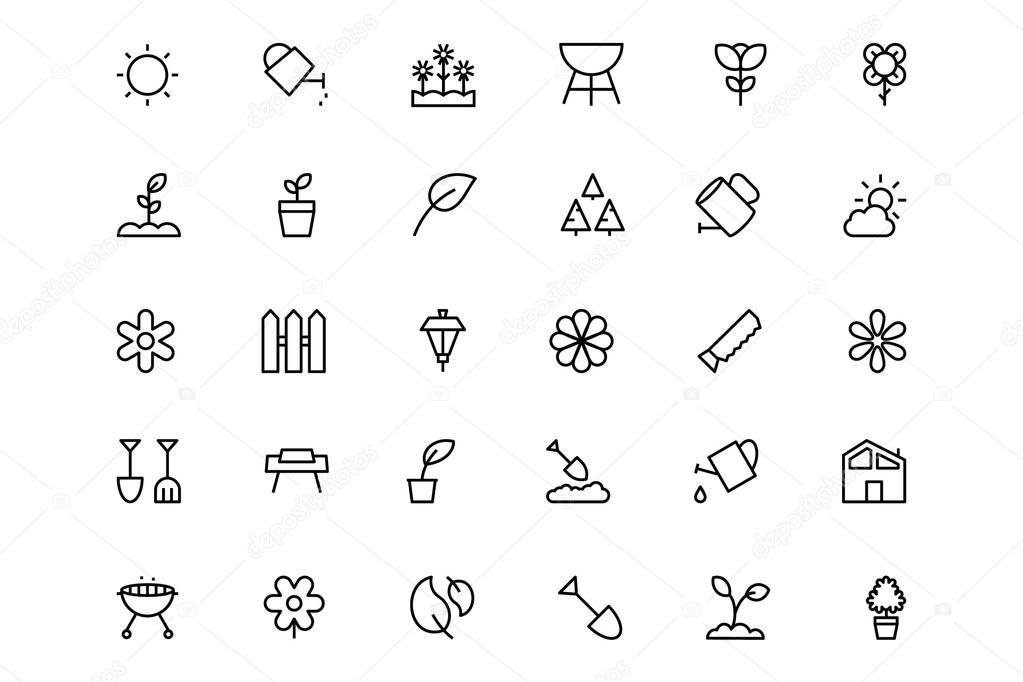 Gardening Line Icons 1