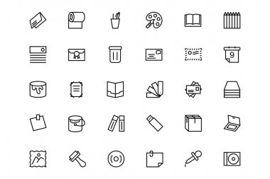 Stationery Line Icons 4