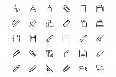 Stationery Line Icons 1