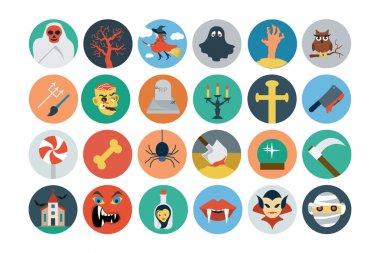 Flat Halloween Vector Icons 2