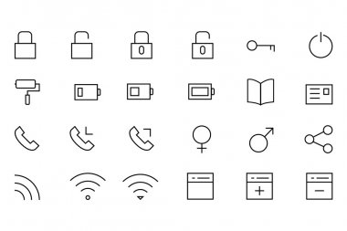 iOS and Android Vector Icons 2