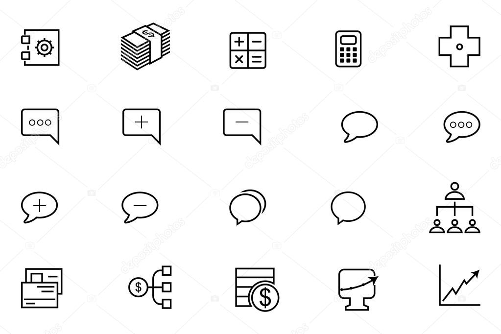 IOS and Android Vector Icons 12 — Stock Vector © creativestall #74505557
