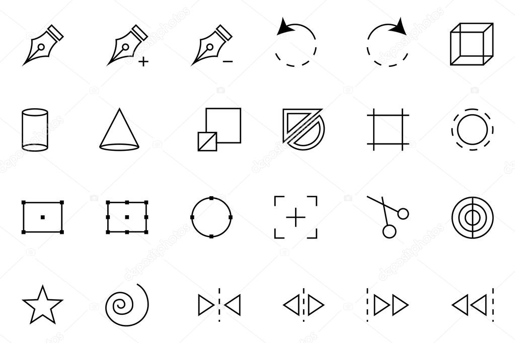 Art Design and Development Vector Icons 3