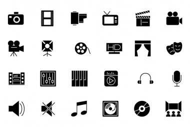 Media and Advertisement Vector Icons 1