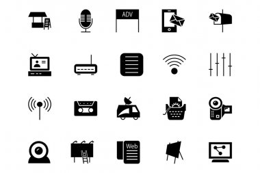Media and Advertisement Vector Icons 4