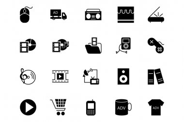 Media and Advertisement Vector Icons 5