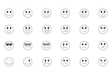 Smiley Line Icons 1