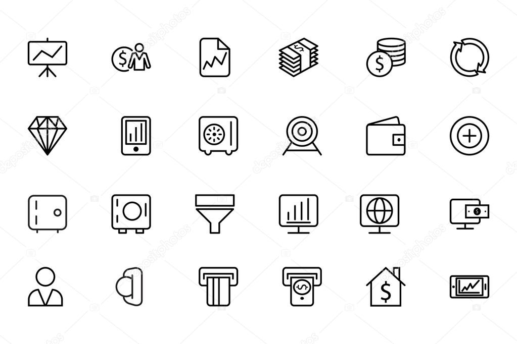 Finance Line Icons 3
