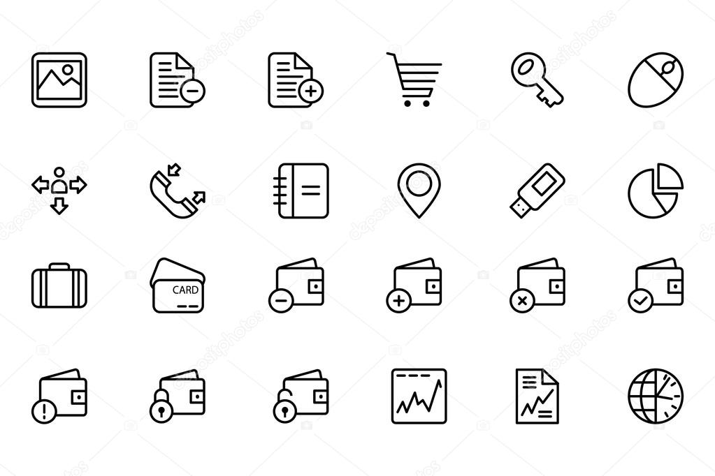 Finance Line Icons 5