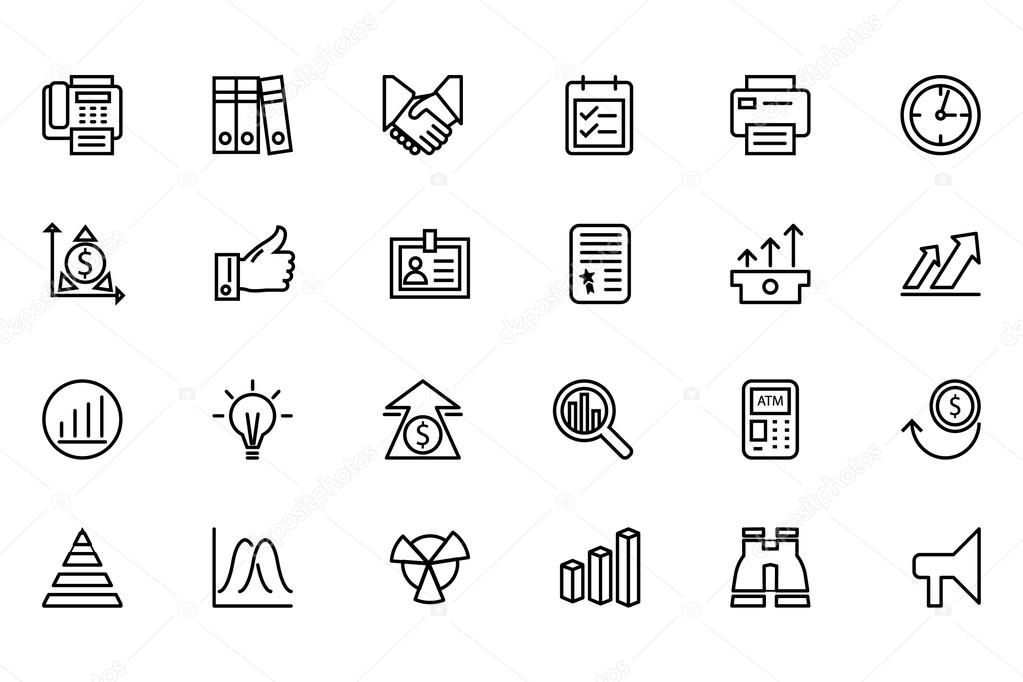 Finance Line Icons 4