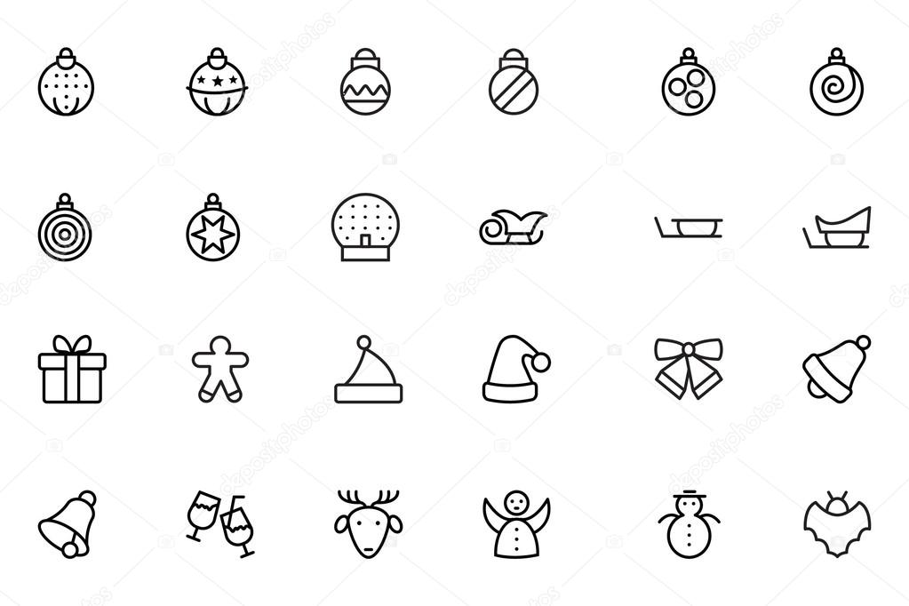 Christmas Line Vector Icons 2