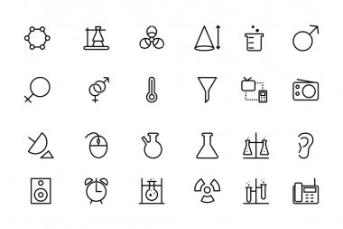 Science Line Vector Icons 3