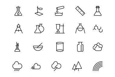 Science Line Vector Icons 6