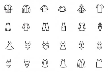 Clothes Line Vector Icons 1