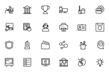 Education Vector Line Icons 4