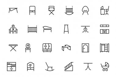 Furniture Vector Line Icons 4