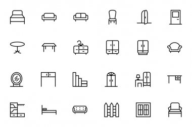 Furniture Vector Line Icons 1