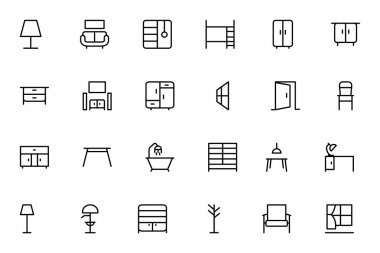 Furniture Vector Line Icons 2