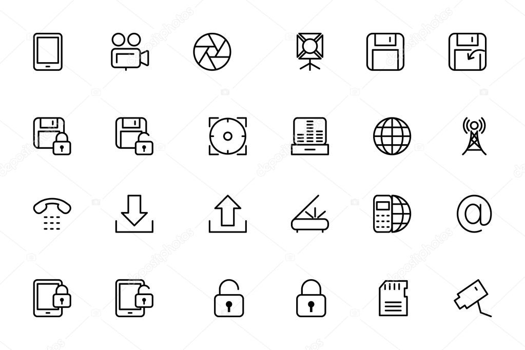 Media Line Vector Icons 4