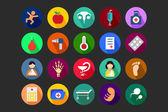 Lékařská ploché barevné ikony 5