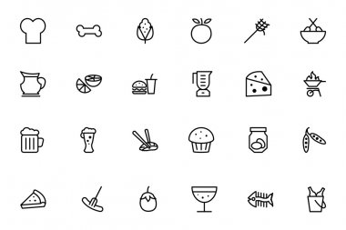 Food Vector Outline Icons 5
