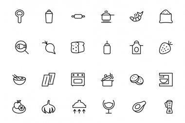 Food Vector Outline Icons 8