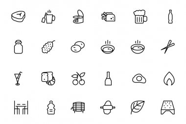 Food Vector Outline Icons 11