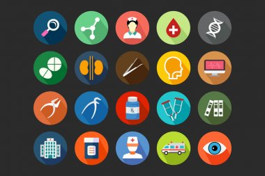 Medical Flat Colored Icons 3