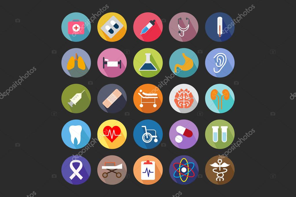 Medical Flat Colored Icons 1